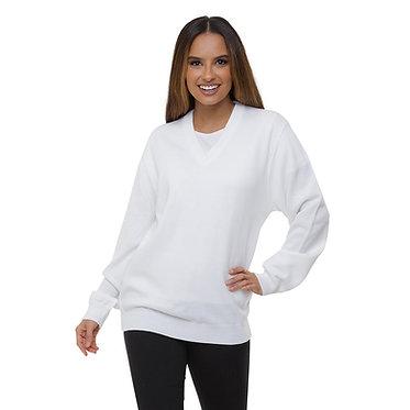 Suéter Decote V Feminino Branco