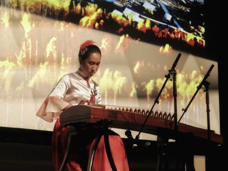 Angela performs at Depaul University for Global Asian Studies