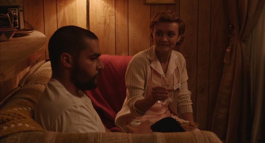 Scene 59 INT KATIE'S TRAILER - LIVING RO