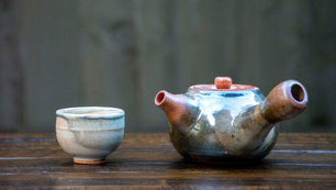 Yokode kyūsu teapot & tea cup