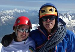 Mont Blanc summit with Hazel 2013