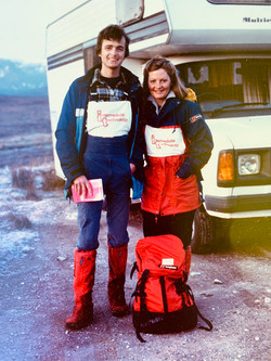 Joy and Martin during Munros in Winter round 1984