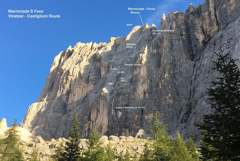 rock wall Dolomites