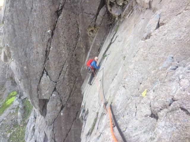 Ben Nevis rock climbing