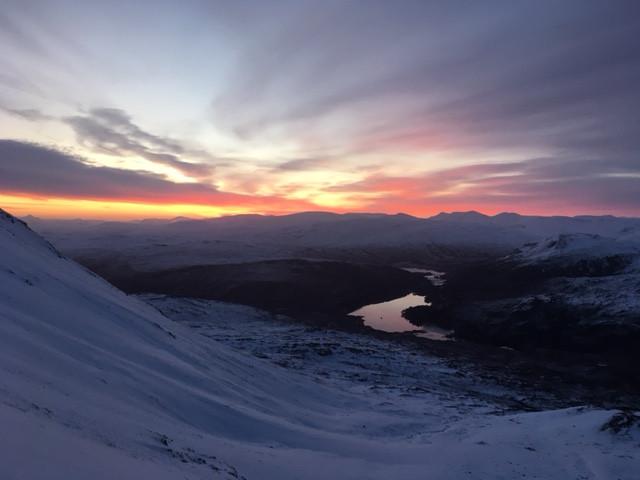 Scottish winter dawn