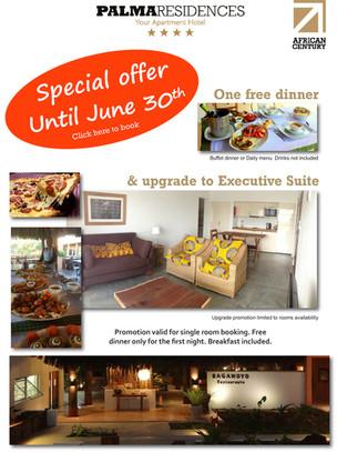 Dinner invitation at Bagamoyo Restaurant - Palma Residences