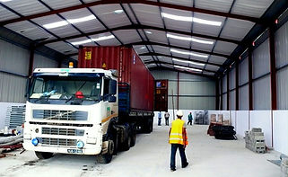 Warehouse and laid down areas at Pemba and Palma Industrial Parks