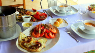 The best Quirimba's seafood platter, now served at the Bagamoyo Restaurant
