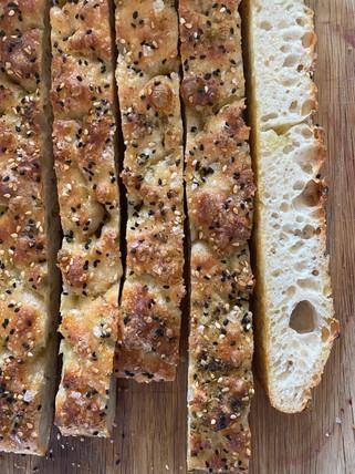 Focaccia with Nigella Seeds, Sesame Seeds & Za'atar