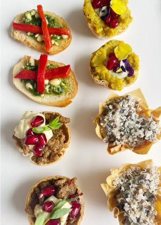 Selection of canapés