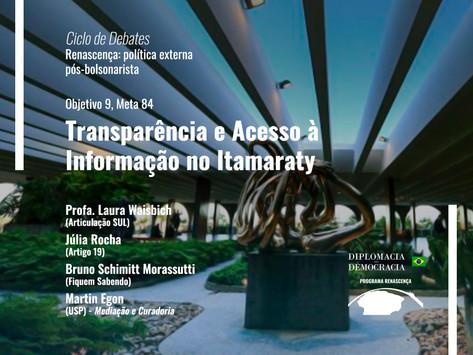 Transparência e Acesso à Informação no Itamaraty   Programa Renascença