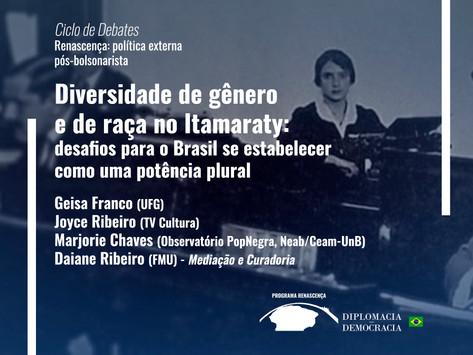 Diversidade de gênero e de raça no Itamaraty   Programa Renascença