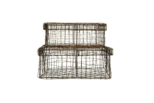 Wire Baskets with Lids