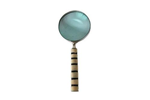 Brass, Bone & Glass Magnifying Glass