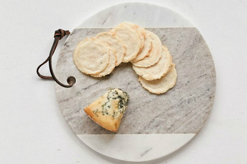 Marble Cheese Board w/ Leather Tie