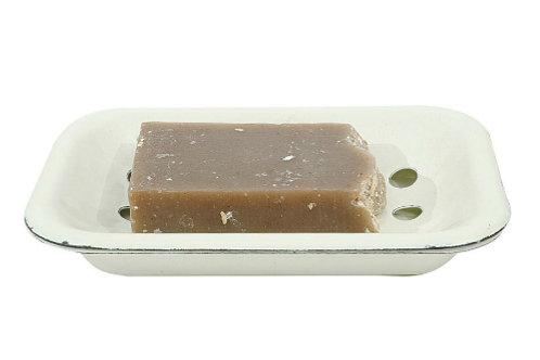Enameled Soap Dish w/ Tray