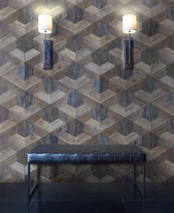 CUTTOFFS Trapezoid wood wall