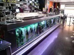 3 Barra de bar en acero inoxidable