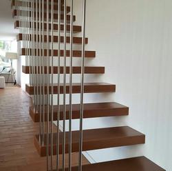 6 Baranda cortina de escalera en acero i