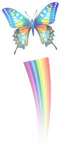 Transparent_Butterfly_and_Rainbow_Clipar