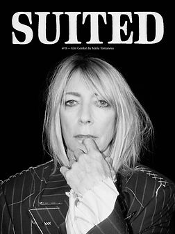 Raul Guerrero, Styling, Editorial, Fashion, Fashion Styling, Kim Gordon, Marie Tomanova, Suited Magazine, Sonic Youth, Cover