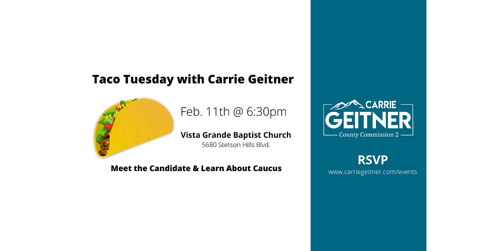 Taco Tuesday with Carrie Geitner