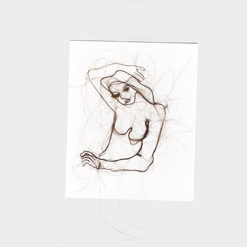 "Maria Walker / Sketches with air N14 ""Self Portrait"""