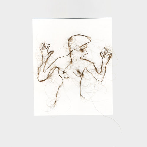 "Maria Walker / Sketches with air N13 ""Self Portrait"""