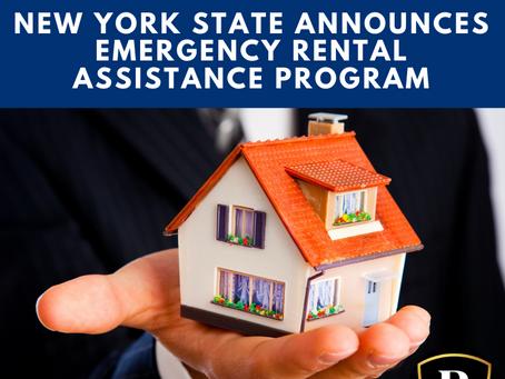 New York State Announces Emergency Rental Assistance Program