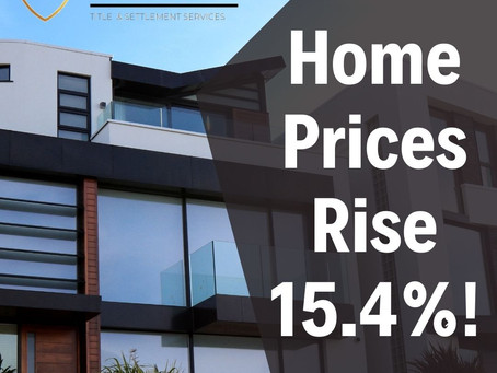 Home Prices Rise Tremendously by 15.4%