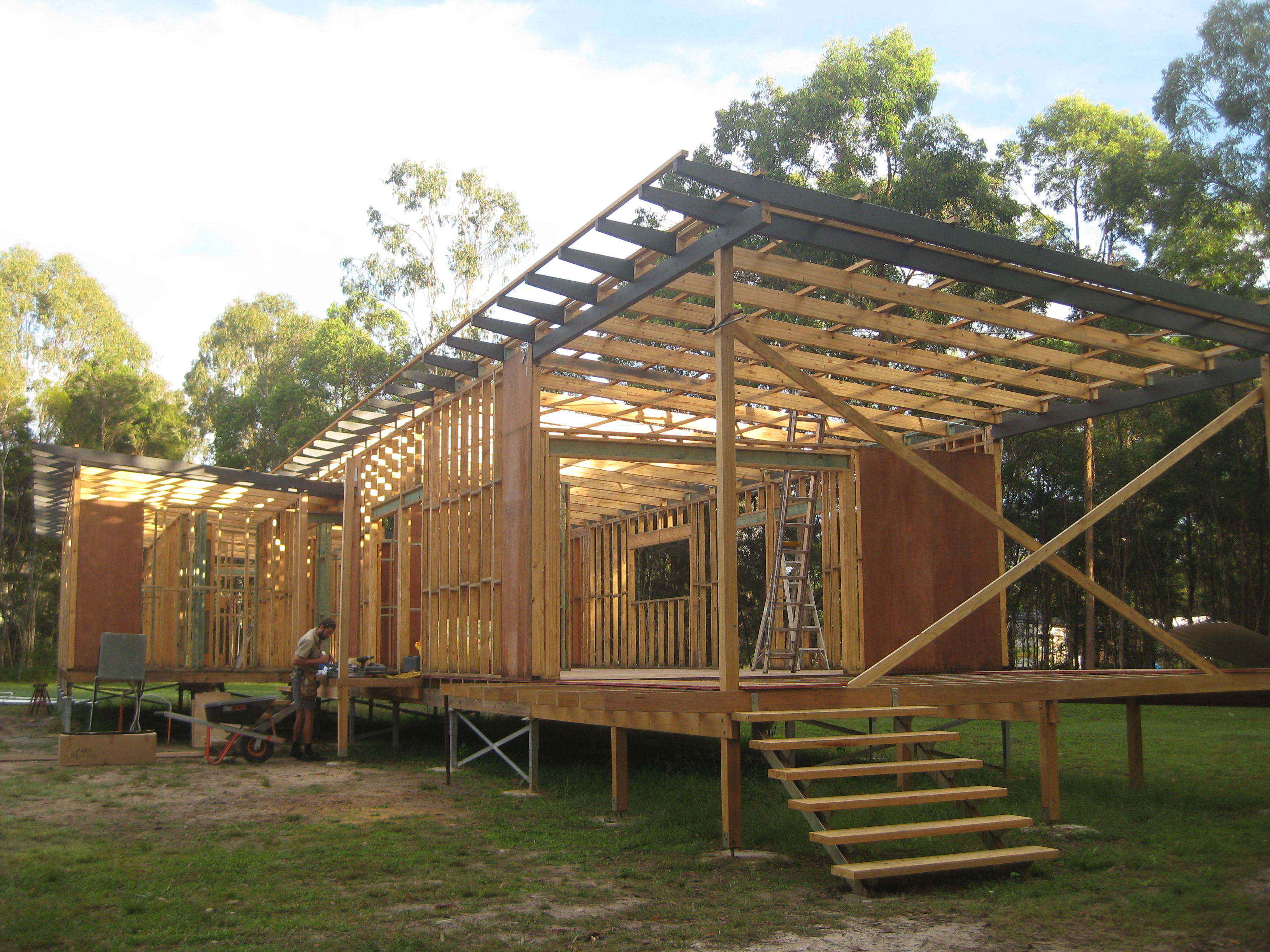 Kempsey house wall framing