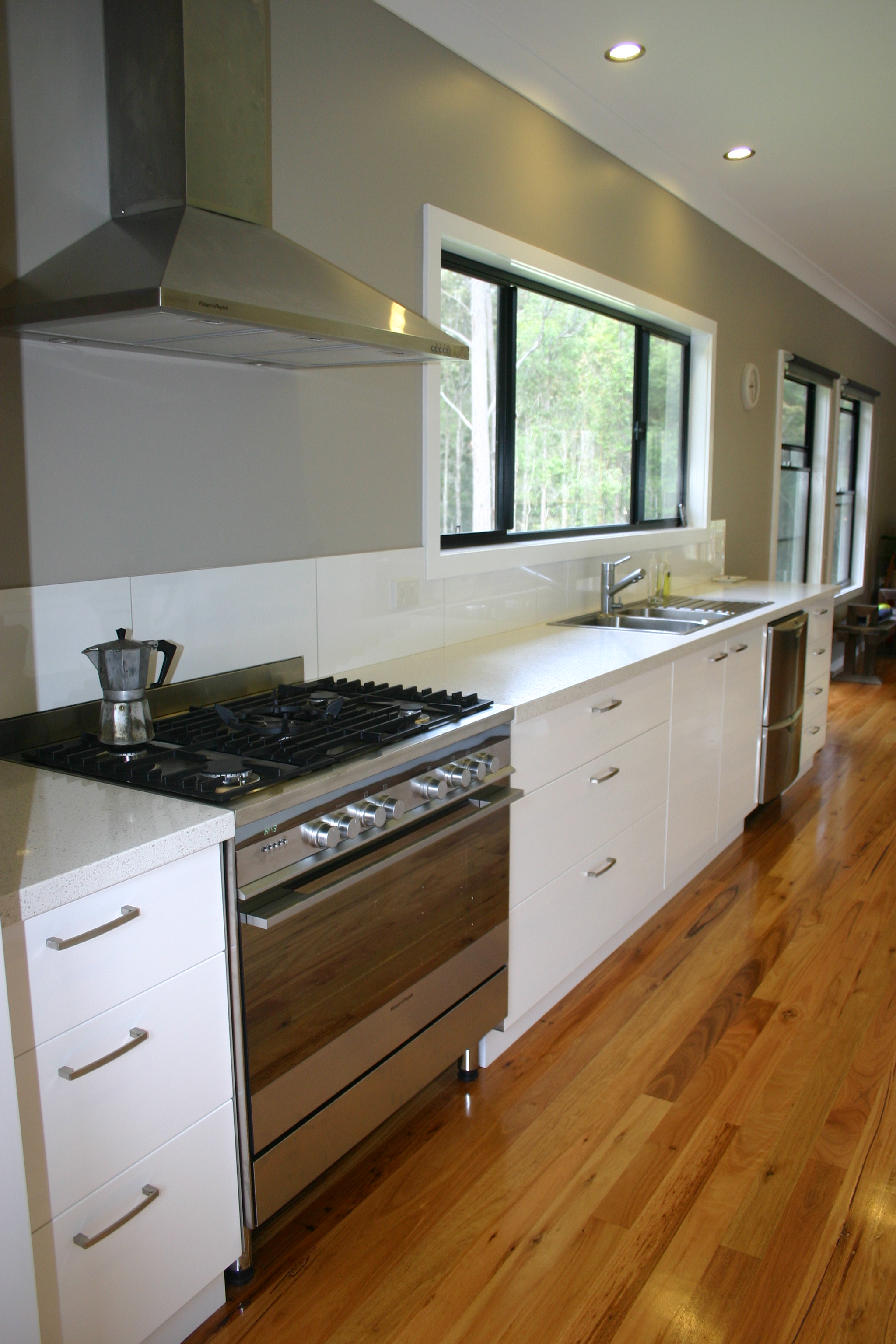 Open plan kitchen; Kempsey dwelling