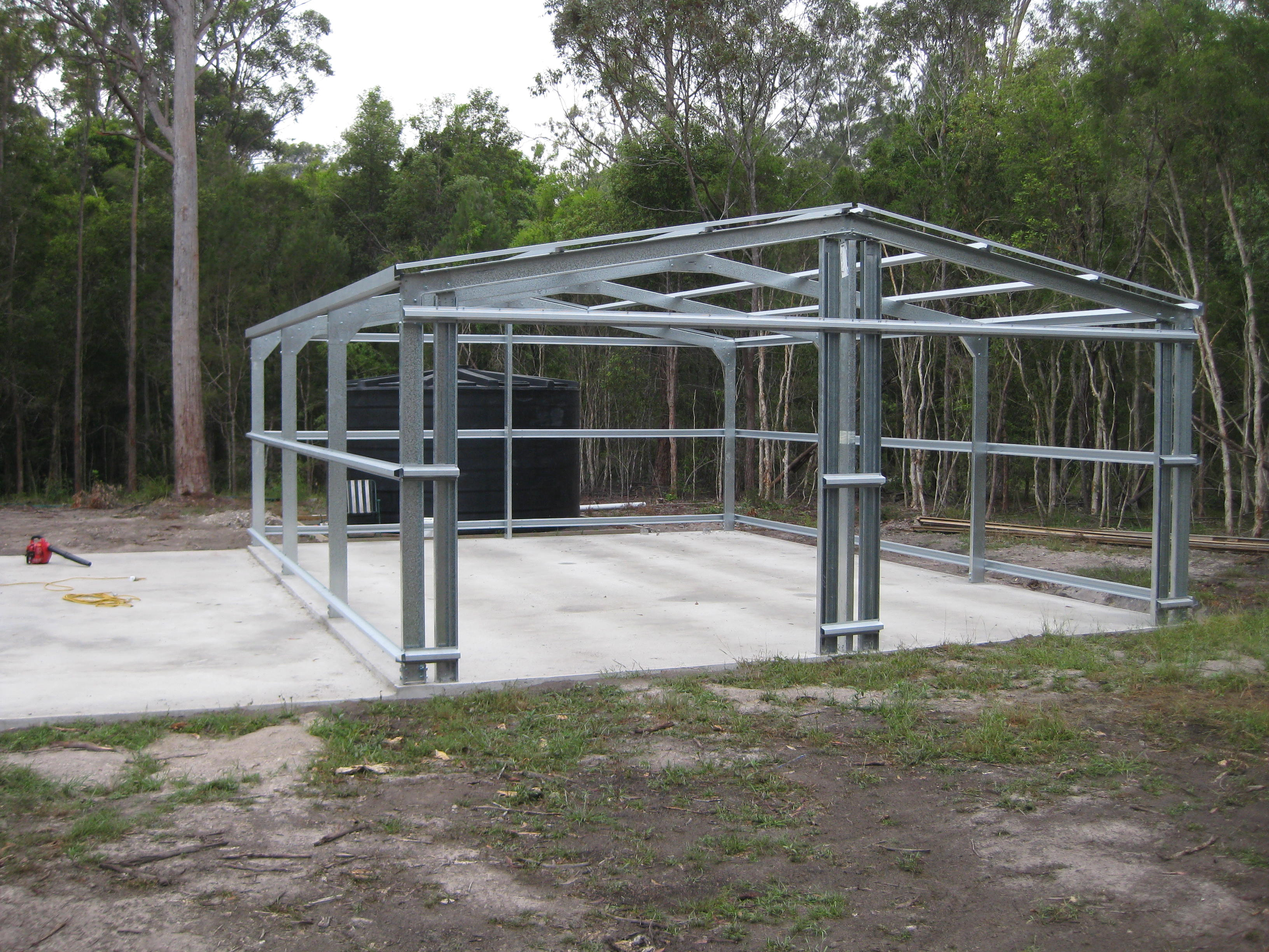 Shed steel frame
