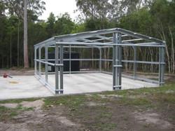 Shed steel frame