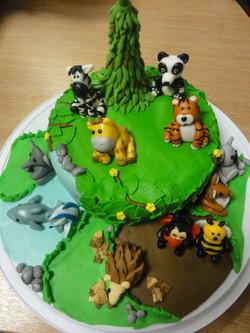 Raffle Cake By Keirans mum,Tiger class won