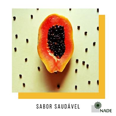Sabor saudável - Mamão e sementes