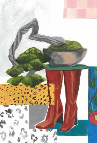 ロングブーツと盆栽  Long boots and Bonsai