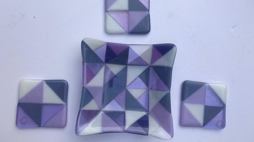 Purple Triangles: Set of 4