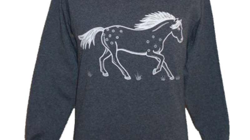 Charcoal pony top