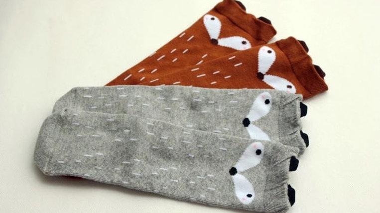 Long fox socks