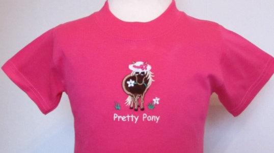 pretty pony t-shirt (baby pink)