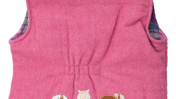 Pink tweed Gilet