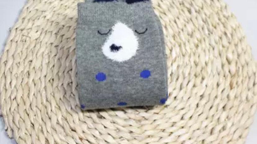 Spotty dog long socks