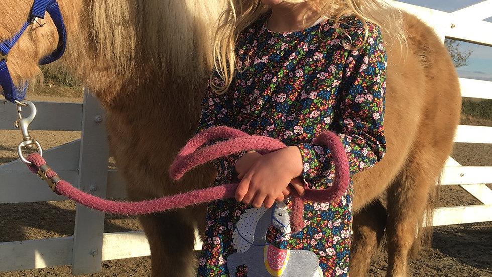 Grey pony dress