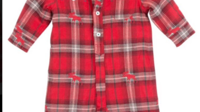 plaid button down onesie