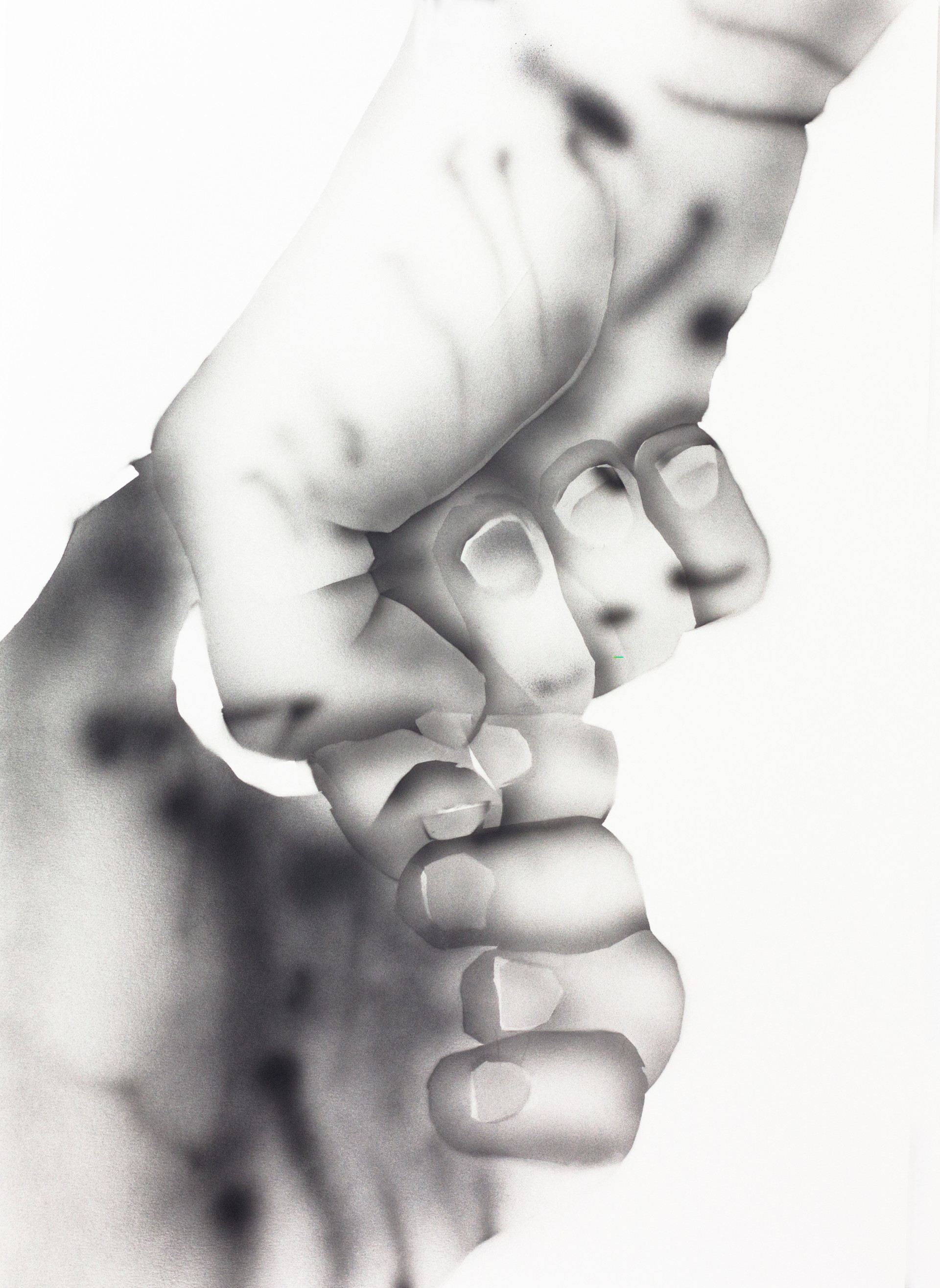 Yoav Weinfeld, Hands, Ink on paper, 60x4