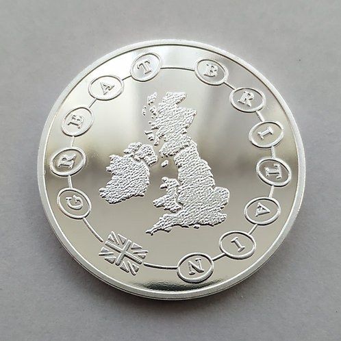 A-Z / Alphabet 10p Completer Medal - Silver Plated