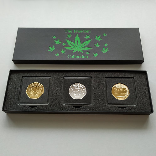 'The Freedom Collection' DELUXE Gold/Silver Plated 'TRIPLE Coin' Collectors Set