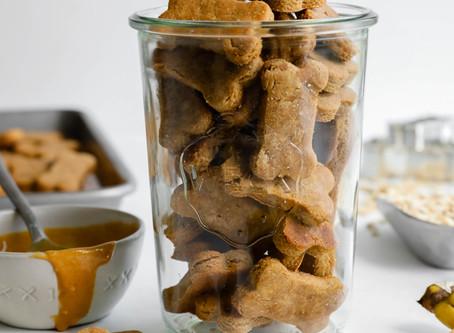 3-Ingredient Peanut Butter Banana Dog Treats
