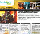 Service Maste All Care Restoration - Website Screen Shot